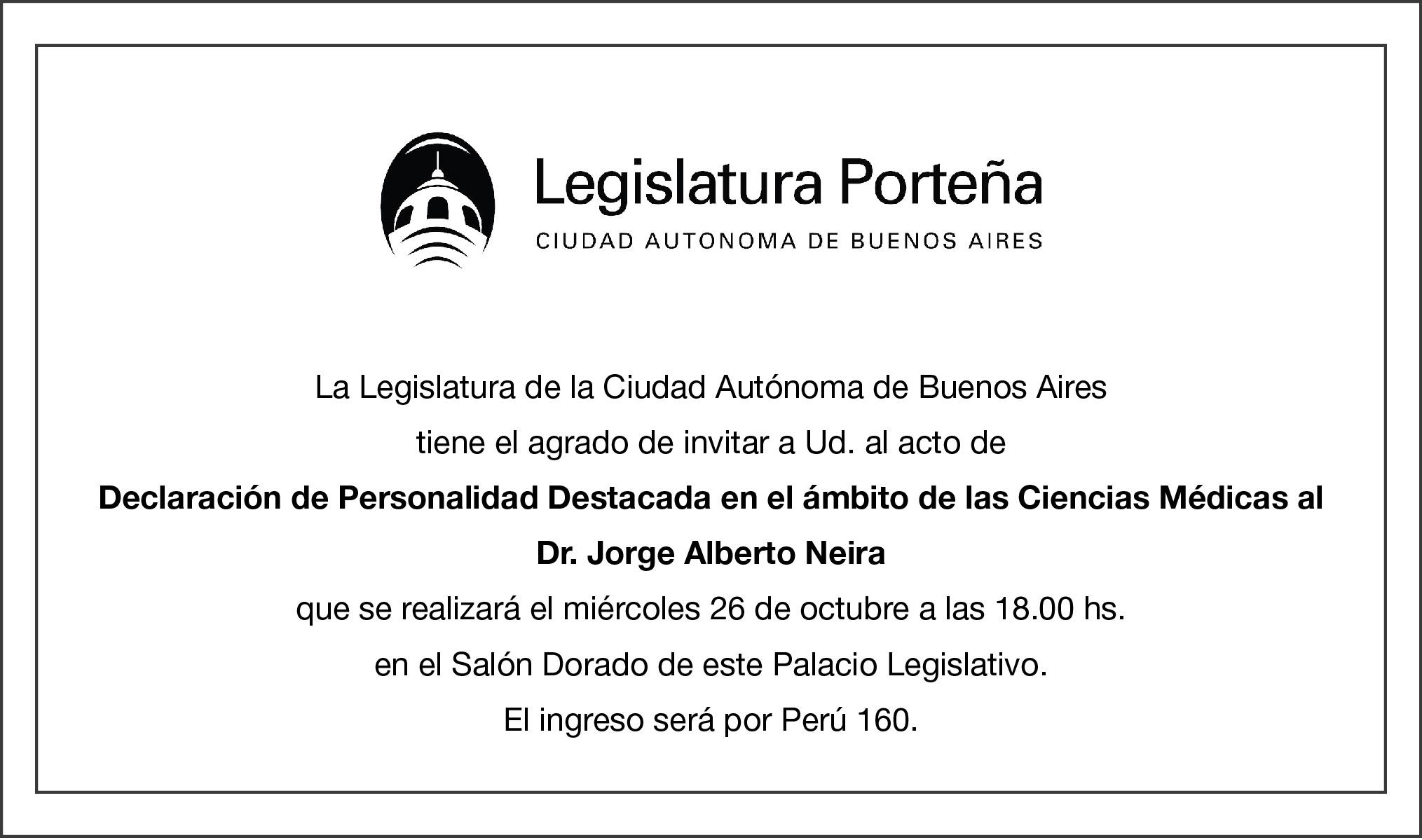 Invitación Legislatura